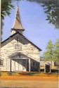 Chapel at Ft. McClellan, oil on canvas, 16x20, SOLD