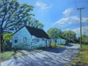 "Two houses along Central Ave, Chattanooga, TN 18 x 24 "", oil on canvas, $650"