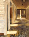 Ft McClellan barn, The  way out is through, oil on canvas, 16x20, $595