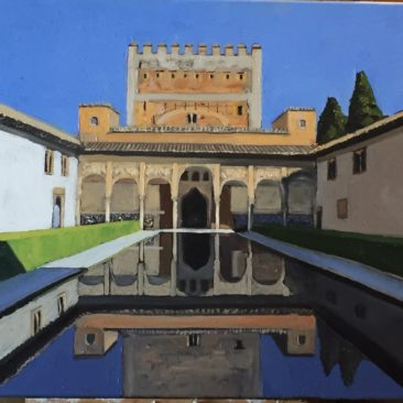 Courtyard of the Myrtles, Alhambra 18×24, $550