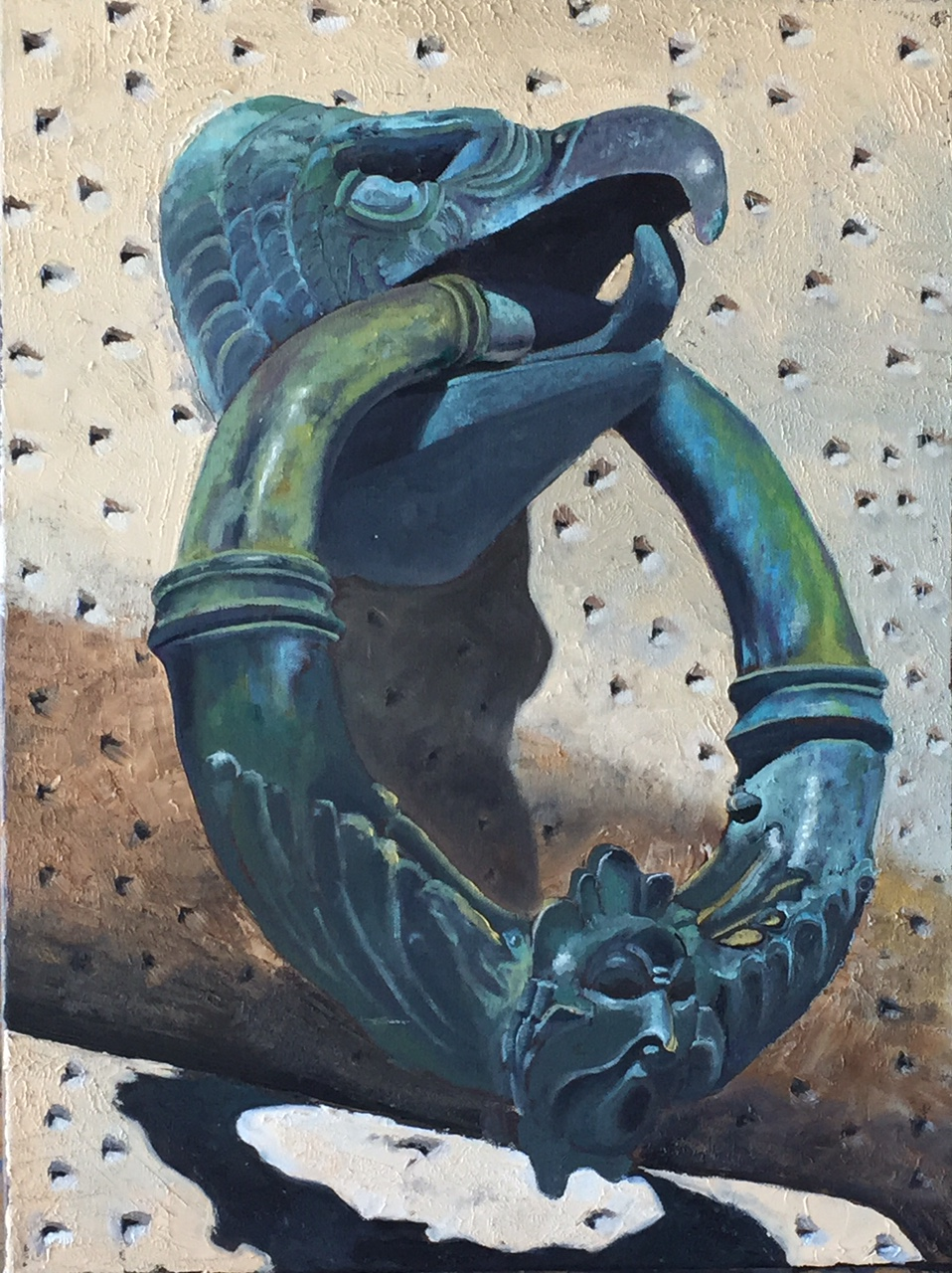 Hitching Ring The Alhambra, oil, 18x24, $500