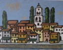 Italian River Town #2, oil, 16 x20, $450, available in print or giclee