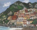 Positano, Italy, 18 x 24, oil, $475, available in print or giclee