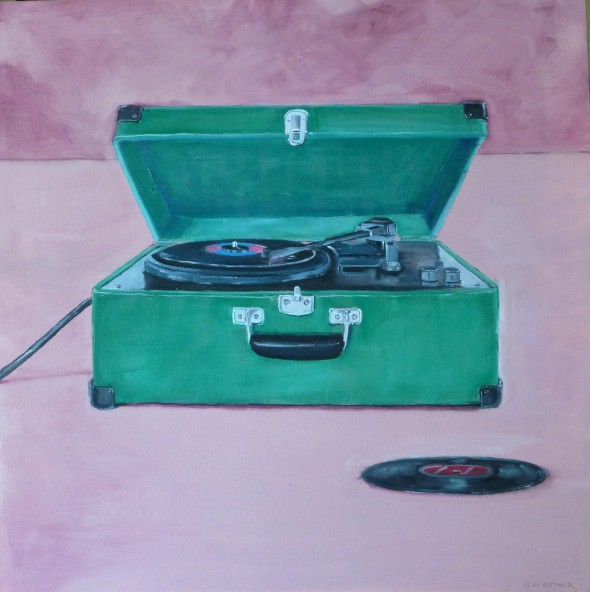 Record Player, oil on canvas,30x30, $600