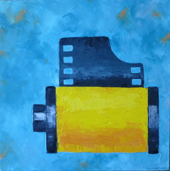 Roll of Film, oil on canvas, 18x18, $375