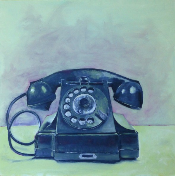 Rotary Telephone, oil on canvas, 30x30, $625