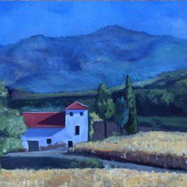 Spanish Countryside Malaga, oil, 18×27, SOLD