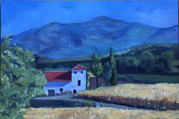 Spanish Countryside Malaga, oil, 18x27, SOLD