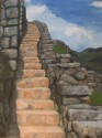 Steps at Machu Picchu, oil, 18 x 24, $ 500, available in print or giclee. jpg