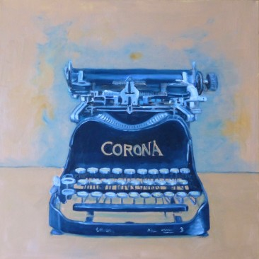 Typewriter, oil on canvas, 30×30, SOLD