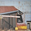 US Pipe, Behind the Curtain, 30 x 30, oil on canvas, $1500