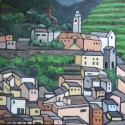 Vernazza3, oil, 24 x24, $545, available in print or giclee